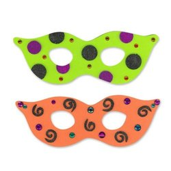 WeGlow International Foam Halloween Mask Activity Kit (Makes 10)
