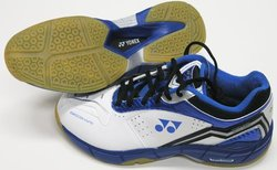 Yonex Men's PC SC4-MX Leather Shoes - Blue/Black/White - Size: 11.5