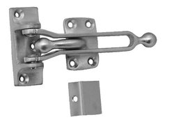 "DON-JO 1"" x 2 1/2"" Solid Brass Door Flip Guard, Brass"