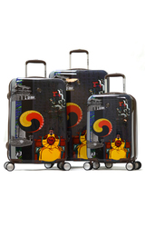 Olympia King Sejong Art Series 3 piece Hardside Spinner Luggage Set