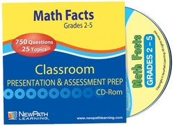 NewPath Learning Math Facts Interactive Whiteboard CD-ROM, Site License, Grade 2-5