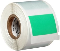 "Brady WML-717-292-GR I.D. PRO Plus, LS2000 and BradyMarker XC Plus 1.5"" Width x 4"" Height, B-292 Self-Laminating Vinyl, Matte Finish Green/Translucent Label (100 per Roll)"