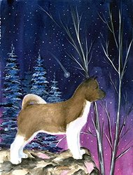Caroline's Treasures SS8352CHF Starry Night Akita Flag Canvas, Large, Multicolor