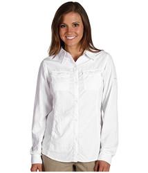 Columbia Women's Bug Shield Long Sleeve Shirt - White - Size: Small