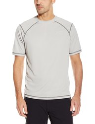 White Sierra Men's Techno Short Sleeve T-Shirt - Ash - Size: Medium
