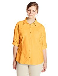 White Sierra Women's Long Sleeve Plus Size Shirt - Warm Apricot - Size: 2X