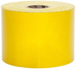 "Mutual 17786 Engineering Grade Retro Reflective Adhesive Tape, 50 yds Length x 4"" Width, Yellow"