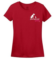 Pampered Pets PAWS Edt Women's Heavy Cotton HD T-Shirt - True Red - Sz: XL