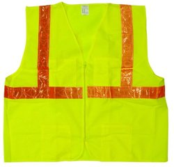 Jackson Safety ANSI Class 2 Deluxe Style Polyester Safety Vest with Orange Prismatic