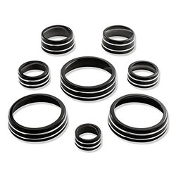 American Brother Designs ABD-1514GBA Black 8 Piece Interior Knob Kit for Corvette C7 Stingray/Z06 (Paint Code GBA)