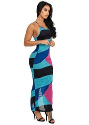 Womens Juniors Sexy Spaghetti Strap Open Back Maxi Dress 30194K - Size: L