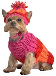 Max's Closet Dog Apparel, Size 10, Hot Pink/Orange/Red