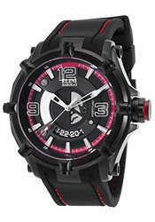 Elini Men's Fortitudo Watch: Elini-20000-bb-01-rda/black Band-black Dial