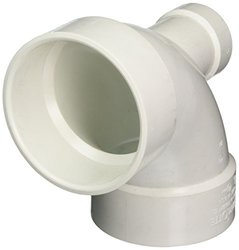 "Genova Products 73042 90 Lowheel Inlet Elbow Pipe Fitting, 4"" x 2"""