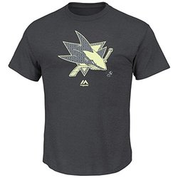 Majestic Athletic NHL San Jose Sharks Boys Paddle Tee- Charcoal - Size: XL