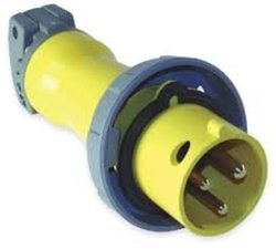 IEC Pin and Sleeve Plug, 2P, 3W, 30A, 125V