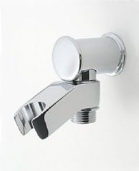 "Jaclo 6418-PG Contemporary Wall-Mounted 1/2"" Male x 1/2"" Female Hand Shower Supply Elbow and Holder, Polished Gold"
