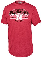 NCAA Nebraska Cornhuskers Men's Touchback Tee - Athletic Red - Size: L