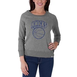 New York Knicks Women's Glimmer Crew Neck Pullover - Grey - Size: M