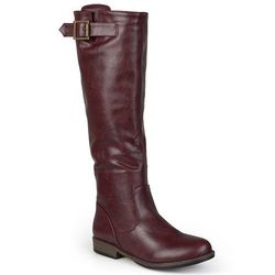 Journee Women's Amia Wide Calf Riding Boots - Red - Size: 8.5
