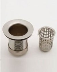 Jaclo 2826-SC Deep Cup Bar Sink Strainer, Satin Chrome