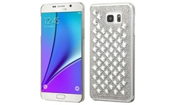 Insten Hard Bling Case for Samsung Galaxy Note 5 - Silver (2152111)