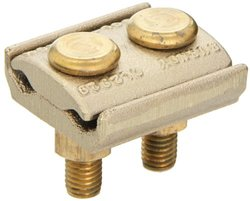 "Burndy GL2929 Ground Connector, 2/0 Sol. - 250 Conductor Range, 2-1/4"" Width, 2-1/4"" Height"