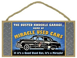 Busted Knuckle Garage 06-19702 5 x 10 'Used Car Novelty' Wood Sign