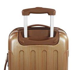 Copper - Polaris 3-piece Metallic Expandable Spinner Luggage Set