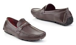 Franco Vanucci Men's Driver Shoes - Brown - Size: 13
