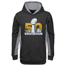 NFL Super Bowl 50 Boys Debossed Hoodie - Black - Size: Large