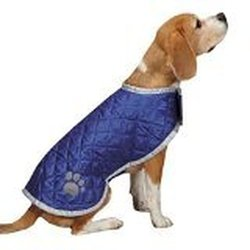 """Casual Canine Quilted Nor'easter Coat for Dogs, 16"""" Medium, Pink"""