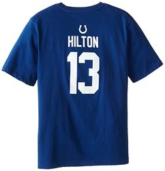 NFL Colts Youth Short Sleeve Name and Number Tee - Blue - Size: 2XL