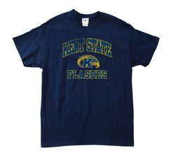 NCAA Kent State Golden Flashes Pre-Shrunk Mascot Tee - Navy - Med