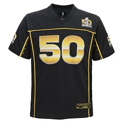 NFL Super Bowl 50 Boys 8-20 Jersey - Black - Size: Medium