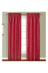 "United Curtain 54"" x 84"" Addison Window Curtain Panel - Burgundy"