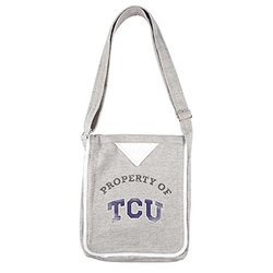 Women's Texas Christian Horned Frogs NCAA Hoodie Crossbody Bag - Gray