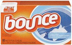 Bounce Sheets Fresh Linen - Pack 9, 80 ct