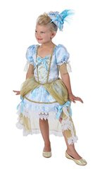 Princess Paradise Girl's Madame Florence Costume, White/Blue/Gold, Large