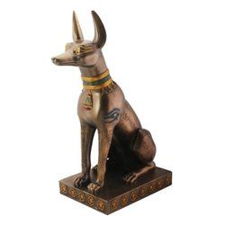 Egyptian Bronze Anubis Collectible Figurine