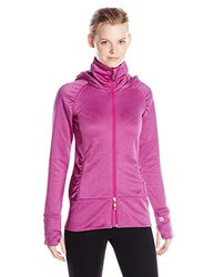Tamagear Women's Saddleback Full Zip Mid-Layer Jacket, Fuchsia, X-Large