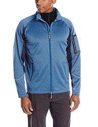 Tamagear Men's Saddleback Full Zip Mid-Layer Jacket, Marine, Large