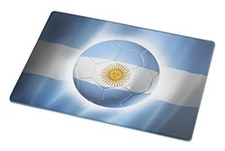 Rikki Knight Brazil World Cup 2014 Argentina Team Football Soccer Flag Large Glass Cutting Board Workspace Saver, 15.3 x 11.3-Inch
