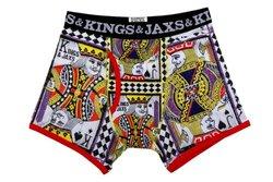 Kings & Jaxs Men's Pokerface Boxer Briefs - Multi - Size: X-Small
