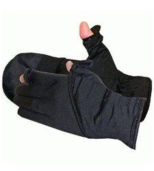 Glacier Unisex Ultra-Light Angler Mitt Fishing Glove - Black - Size: Xl