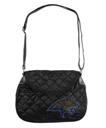 NCAA Montana State Bobcats Sport Noir Quilted Saddlebag Purse - Black
