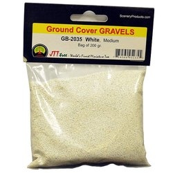 JTT Scenery Products Ballast and Gravel, White, Medium