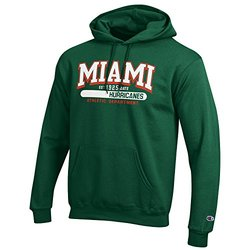 NCAA Miami Hurricanes Fleece Hoodie - Green - Size: X-Large