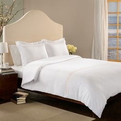 Roxbury Park Rings White with Gold Embroidery Duvet Cover Set, King