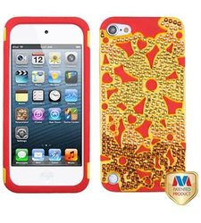 MyBat Solid Pearl Flowerpower Protector Cover w/ Diamonds for iPod touch 5
